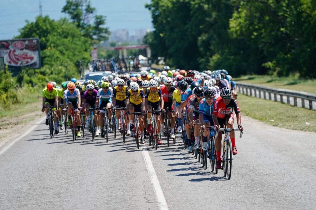 I ragazzi del Gragnano SC in azione durante il Tour Of Bulgaria 2021